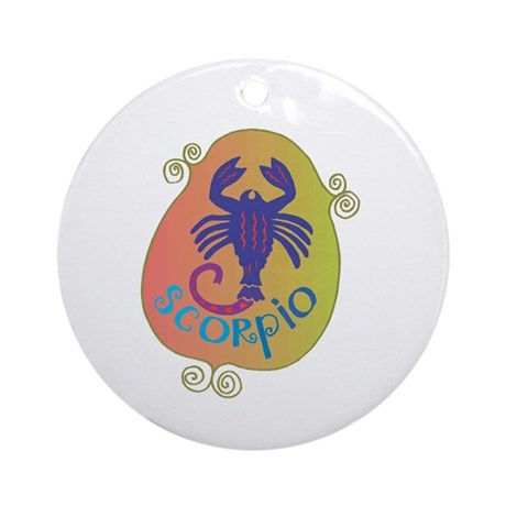 Cool Scorpio Design Ornament (Round)