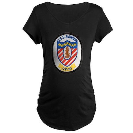USS RANGER Maternity Dark T-Shirt