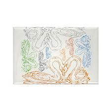 BLO Swans Love design Rectangle Magnet