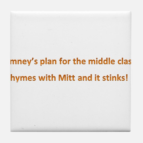 Romney's Middle Class Tile Coaster