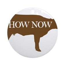 How Now Brown Cow Ornament (Round)
