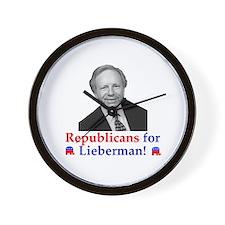 Republicans for Lieberman Wall Clock