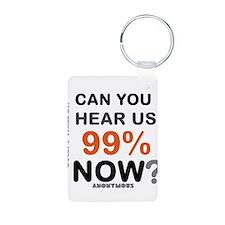 BLO Hear Us 99% Now design Keychains