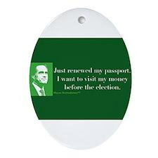 Passport Ornament (Oval)