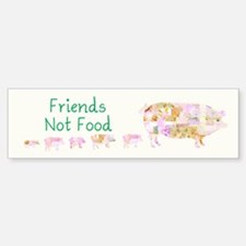 Friends Not Food Sticker (Bumper)