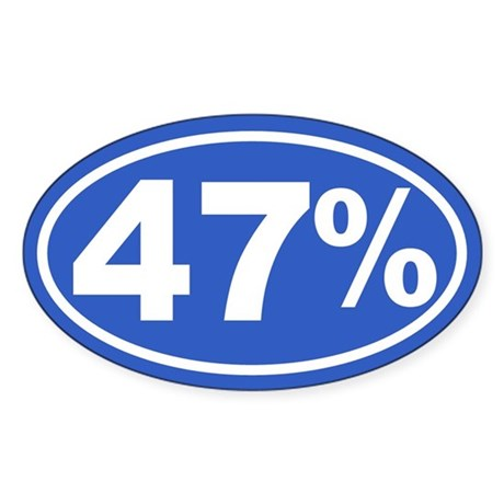 47 Percent Sticker (Oval)