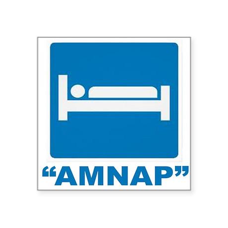 """AMNAP Square Sticker 3"""" x 3"""""""
