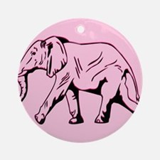 B.L.O. Pink Elephant design Ornament (Round)