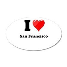I Heart Love San Francisco.png Wall Decal