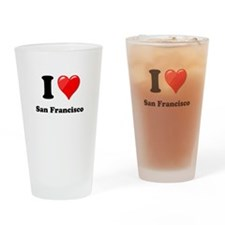 I Heart Love San Francisco.png Drinking Glass