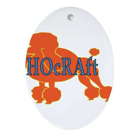 HOcRAft Logo Ornament (Oval)