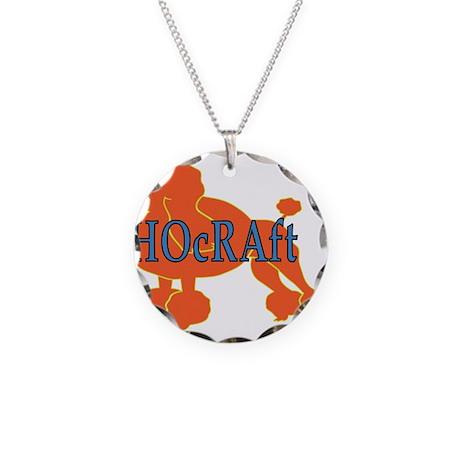 HOcRAft Logo Necklace Circle Charm
