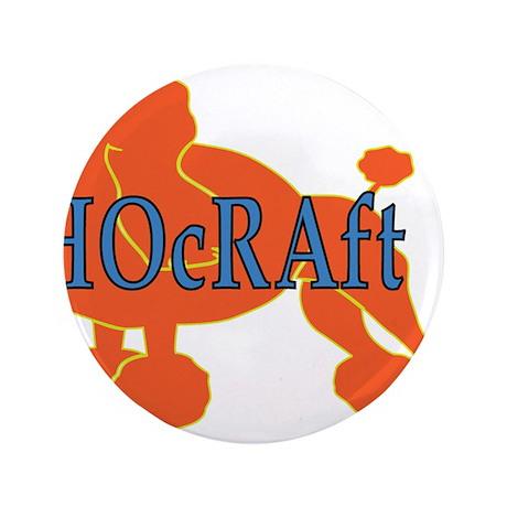 """HOcRAft Logo 3.5"""" Button (100 pack)"""
