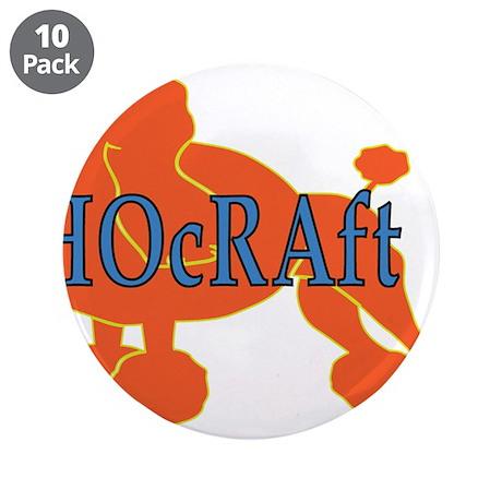 """HOcRAft Logo 3.5"""" Button (10 pack)"""