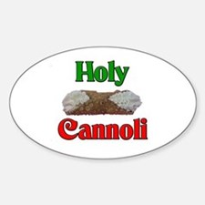 Holy Cannoli Oval Decal