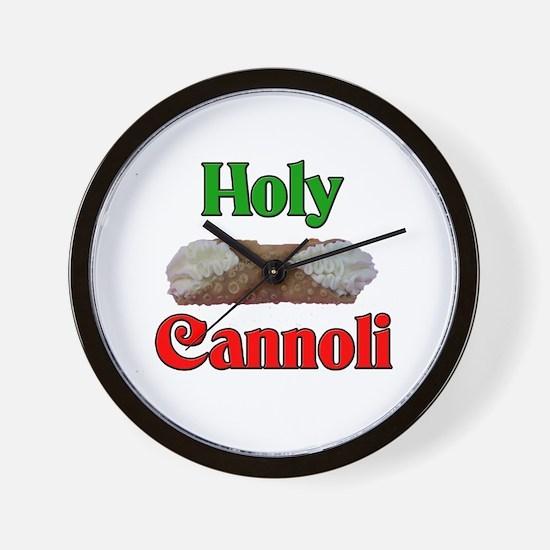 Holy Cannoli Wall Clock