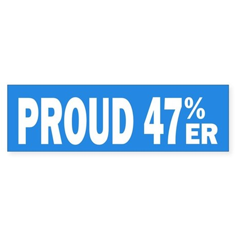 Proud 47 Percent-er Sticker (Bumper)