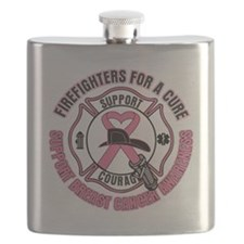 Firefighters For A Cure Breast Cancer Flask