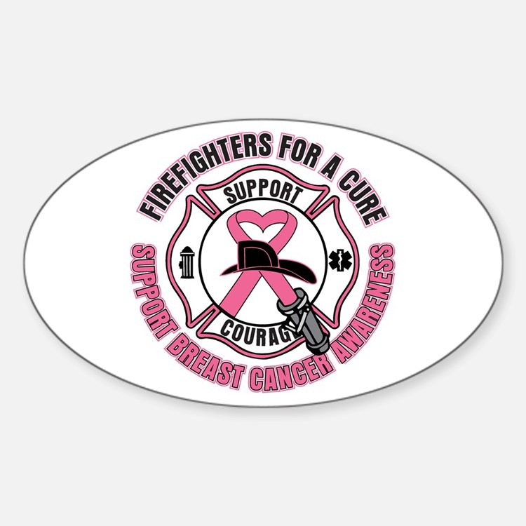 Firefighters For A Cure Breast Cancer Decal