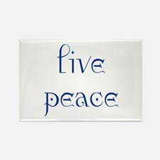 Live Peace Rectangle Magnet (10 pack)