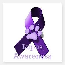 "Lupus Awareness Square Car Magnet 3"" x 3"""