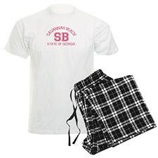 Savannah Beach GA - Varsity Design. Pajamas