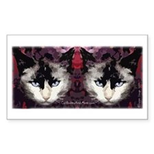 Mostly Siamese Cat Rectangle Decal