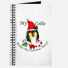Tri-Color Collie Christmas Journal