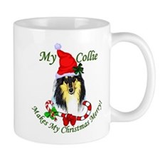 Tri-Color Collie Christmas Mug