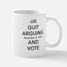 Quit Arguing Vote-Black Mug