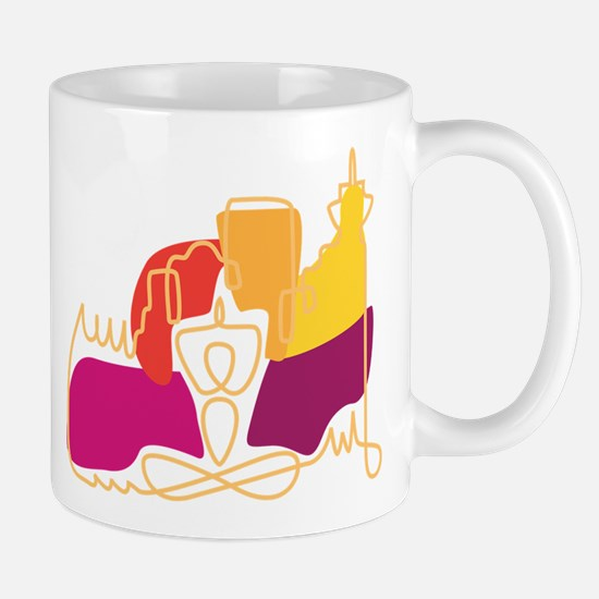 Yoga Town Logo Light Mug