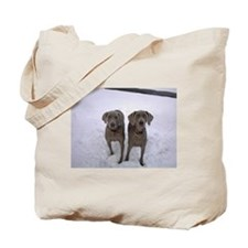 Snow Weims Tote Bag