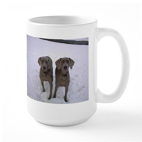 Snow Weims Large Mug