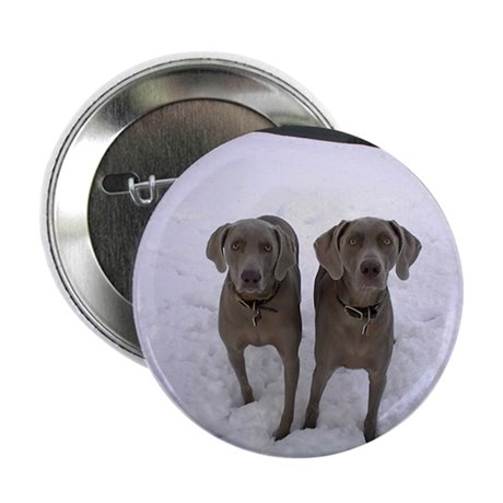 "Snow Weims 2.25"" Button"