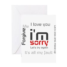BLO Im Sorry design Greeting Card