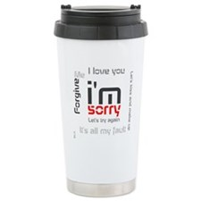 BLO Im Sorry design Travel Mug