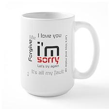 BLO Im Sorry design Mug