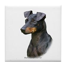 Manchester Terrier 8W13D-07 Tile Coaster