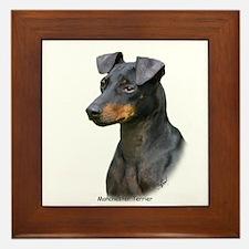 Manchester Terrier 8W13D-07 Framed Tile