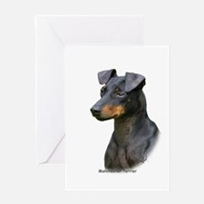 Manchester Terrier 8W13D-07 Greeting Card