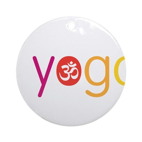 Yoga Town - I YOGA Ornament (Round)