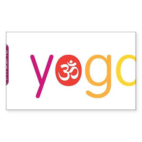 Yoga Town - I YOGA Sticker (Rectangle)