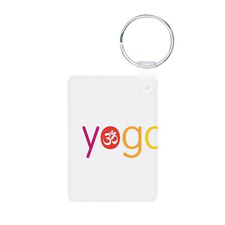 Yoga Town - I YOGA Aluminum Photo Keychain