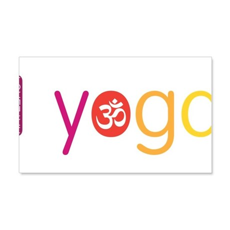 Yoga Town - I YOGA 20x12 Wall Decal