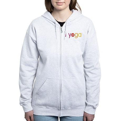 Yoga Town - I YOGA Women's Zip Hoodie