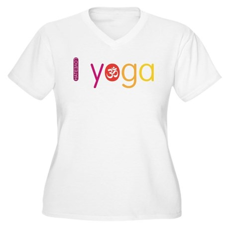 Yoga Town - I YOGA Women's Plus Size V-Neck T-Shir