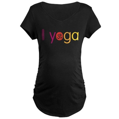 Yoga Town - I YOGA Maternity Dark T-Shirt