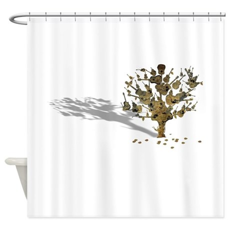 guitar tree shower curtain by thecafemarket