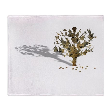 Guitar Tree Throw Blanket
