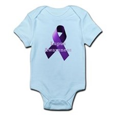 Purple Ribbon Lupus Awareness Infant Bodysuit